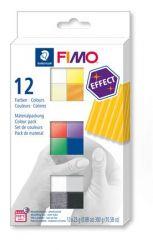 """FIMO """"Effect Colours"""" égethető 12 különböző színű gyurma készlet (12x25 g)"""