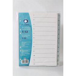 BLUERING 1-12 műanyag szürke regiszter