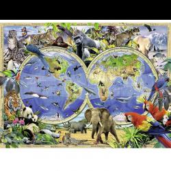 Ravensburger 131730 Állatok térképe 300 darabos XXL puzzle