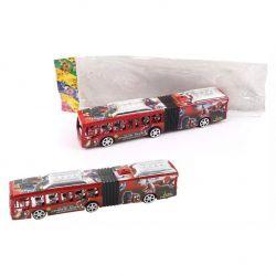 MTS 14063 (28 cm) piros lendkerekes városi busz
