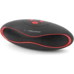Esperanza EP117KR TRIVAL FM Radio microSD Bluetooth fekete-piros hordozható hangszóró