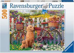 Ravensburger 15036 Kutyusok a kertben 500 darabos puzzle