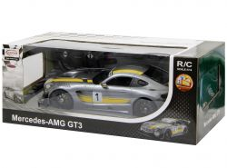 Rastar Mercedes AMG GT3 Performan 1:14 szürke-sárga távirányítós autó
