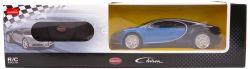 Rastar Group 32651|1:24 Bugatti Chiron 76100 fekete/kék Távirányítós autó