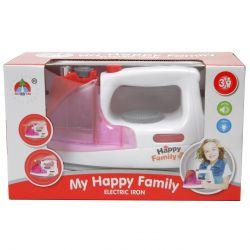 My Happy Family (89452) fehér-rózsaszín műanyag, elemes vasaló