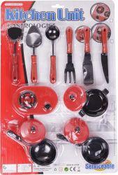 Regio (95463) piros műanyag, konyhai 13 darabos készlet