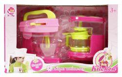 Regio (14043) rózsaszín műanyag, konyhai keverőgép és kávéfőző