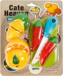 Cate Heaven (12936) színes műanyag, 8 darabos vágható gyümölcs és zöldség