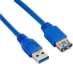 Lanberg USB 3.0 AM-AF 3m kék hosszabbító kábel