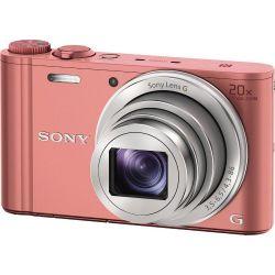 Sony DSC-WX350P 20x optikai zoom rózsaszín kompakt digitális fényképezőgép