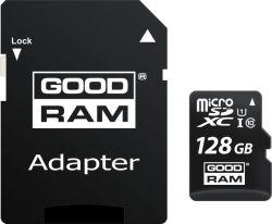 GOODRAM M1AA-1280R12 128GB microSDHC CL10 UHS-I memóriakártya + adapter