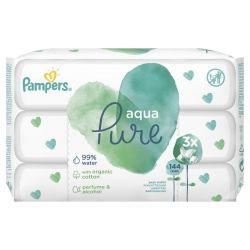 Pampers Aqua Pure 144 darabos nedves törlőkendő