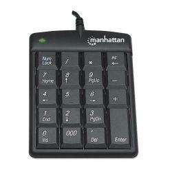 Manhattan Ultra Slim fekete numerikus billentyűzet