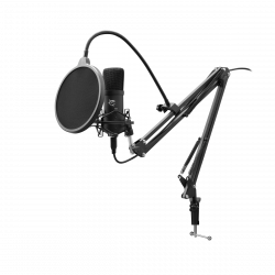 White Shark DSM-01 Zonis 16dBa, 30Hz-16kHz fekete pop filteres, karos stúdió mikrofon