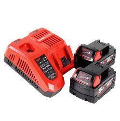 Milwaukee M18 NRG-502 2 x 5.0Ah 18V piros töltővel/akkumulátor szett