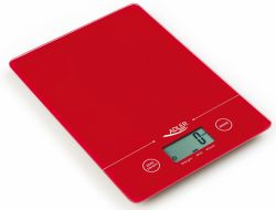 Adler AD 3138 max 5kg, Tare funkció, piros digitális konyhai mérleg