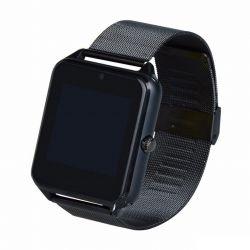 iTotal SWATCHB magyar menü, 380mAh, TFT HD LCD, Bluetooth fém szíjas fekete okosóra