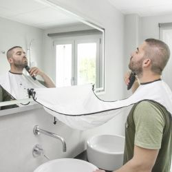 Innovagoods V0100729 fehér borotválkozó köpeny