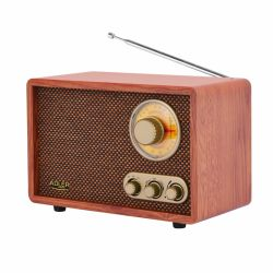 Adler AD1171 10 W, 87MHz - 108MHz, 522-1629 kHz barna Bluetooth-os retro rádió