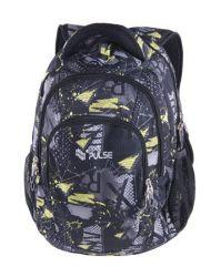 PULSE Teens Green Fury szürke-citromsárga hátizsák
