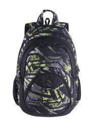 PULSE Teens Green Riddle 2in1 zöld-fekete hátizsák notebook tartóval és audió csatlakozóval