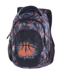 PULSE Teens Basket szürke-narancs hátizsák