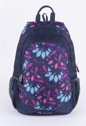 PULSE Cots Blue Flower kék-lila hátizsák notebook tartóval