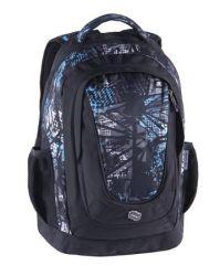 PULSE Music Blue Lead fekete-kék hátizsák