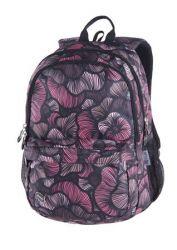 PULSE Spin Vintage Flower fekete-rózsaszín hátizsák
