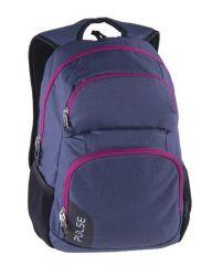 PULSE Element sötétkék-lila hátizsák notebook tartóval