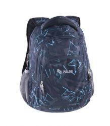 PULSE Teens Speed Drive szürke-kék-fekete hátizsák