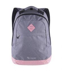 PULSE Bicolor szürke-rózsaszín hátizsák notebook tartóval