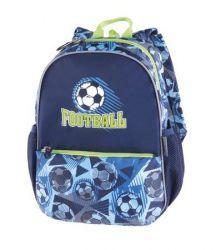 PULSE Junior Football Time kék-zöld hátizsák