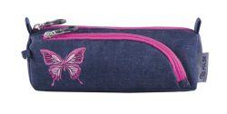 PULSE Music Jeans Butterfly pillangó mintás cipzáras tolltartó