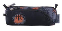 PULSE Teens Basket cipzáras szürke-narancs tolltartó