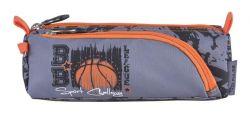 PULSE Basketball League cipzáras szürke-narancssárga tolltartó
