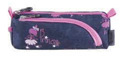 PULSE Ballerina cipzáras kék-rózsaszín tolltartó