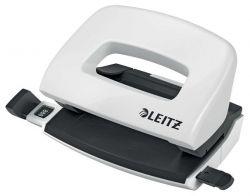 """Leitz """"Nexxt Wow"""" 10 lap, 5.5 mm fém fehér mini kétlyukú lyukasztó"""