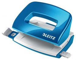 """Leitz """"Nexxt Wow"""" 10 lap, 5.5 mm fém kék mini kétlyukú lyukasztó"""