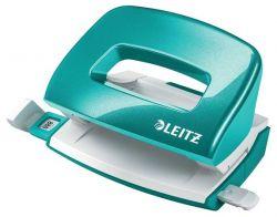"""Leitz """"Nexxt Wow"""" 10 lap, 5.5 mm fém jégkék mini kétlyukú lyukasztó"""