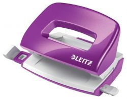 """Leitz """"Nexxt Wow"""" 10 lap, 5.5 mm fém lila mini kétlyukú lyukasztó"""