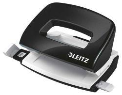 """Leitz """"Nexxt Wow"""" 10 lap, 5.5 mm fém fekete mini kétlyukú lyukasztó"""