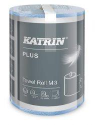 KATRIN 3 rétegű tekercses világoskék háztartási papírtörlő (220 lap)
