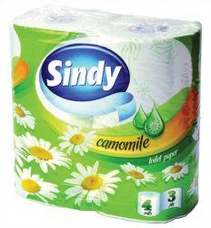 Sindy 3 rétegű 4 tekercses kamilla illatú fehér toalettpapír