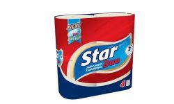 Star Duo 2 rétegű 4 tekercses natúr toalettpapír