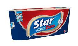 Star Duo 2 rétegű 8 tekercses natúr toalettpapír