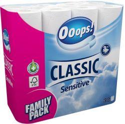 Ooops! sensitive 3 rétegű 32 tekercses fehér toalettpapír