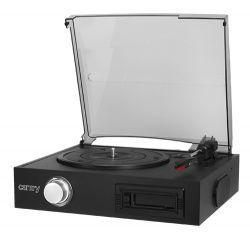 Camry CR1154 2 x 1,5 W, 33/45/78 RPM fekete kazetta és lemezlejátszó