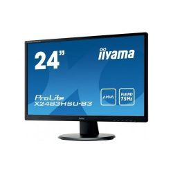 Iiyama X2483HSU-B3 24inch, Full HD, AMVA+, DVI, HDMI, USB, Speakers fekete monitor