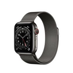 "Apple Watch Series 6 Oled 1.57"" 40mm GPS 4G milánói grafit sportszíjas okosóra"